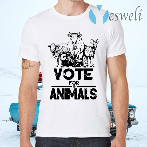 Vote 2020 President for animals T-Shirts