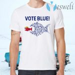 Vote Blue Fish Eating Red Fish Trump Funny Political Meme T-Shirts