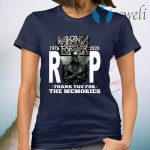 Wakanda Forever Rip Black Panther 1976 2020 Thank You For The Memories T-Shirt