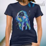 Watercolor Elephant Shower African T-Shirt