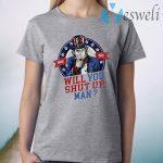Will You Shut Up Man Uncle Sam Political Trump Biden Debate T-Shirt