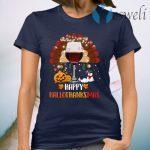 Wine Turkey Happy Hallothanksmas T-Shirt