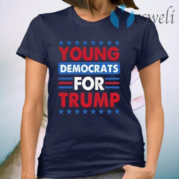Young Democrat for Trump Vote Trump 2020 T-Shirt