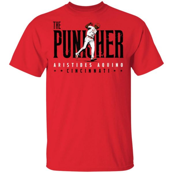 Aristides Aquino Cincinnati Reds The Punisher Ladies Women T-Shirt
