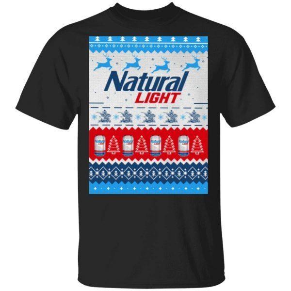 Natural Light Ugly Christmas T-Shirt