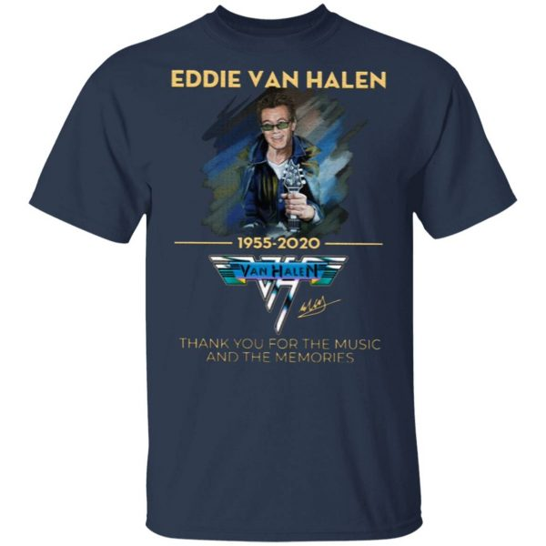 Eddie Van Halen Thank You For The Memories 1955-2020 T-Shirt