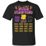 Undefeated LAKERS 17 Time Champions T-Shirt