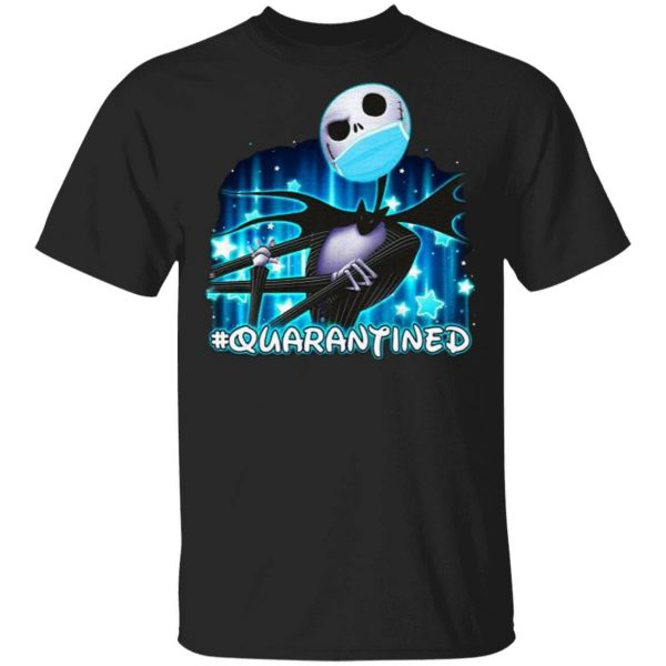 Jack Skellington face mask quarantined T-Shirt
