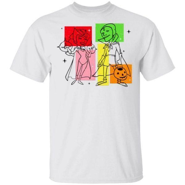 Marvel WandaVision Wanda And Vision 50s T-Shirt