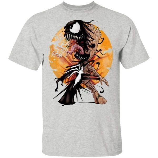 Baby Groot Venom moon Halloween T-Shirt