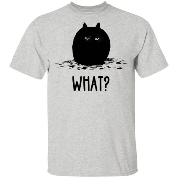 Black Cat Fat What T-Shirt