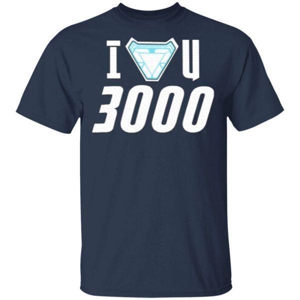 I Love You 3000 Iron Man Stark Avengers T-Shirt