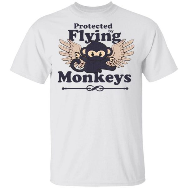 Protected by Flying Monkeys Funny Ninja T-Shirt
