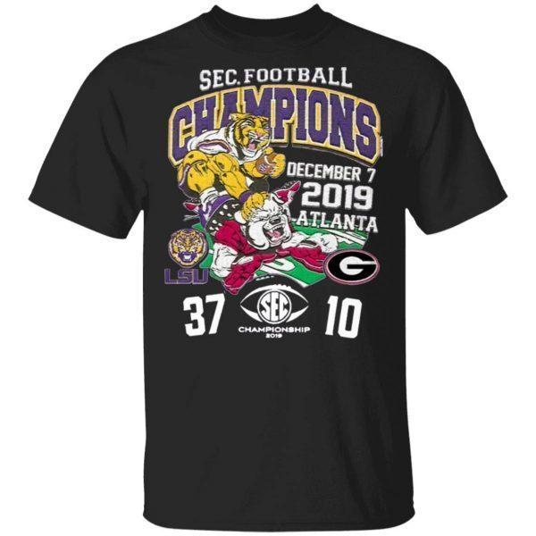 Lsu tigers 2019 sec football champions score T-Shirt