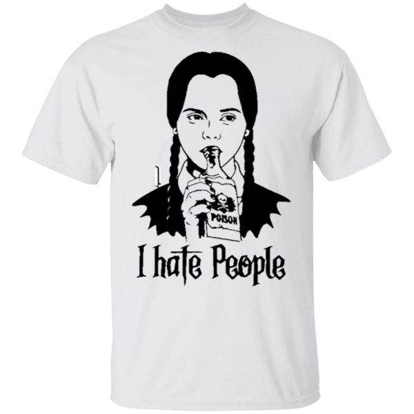 Wednesday Addams I Hate People T-Shirt