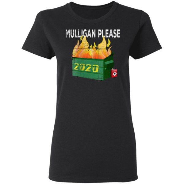 Women's Funny 2020 Dumpster Fire Golfer Mulligan Do Over T-Shirt