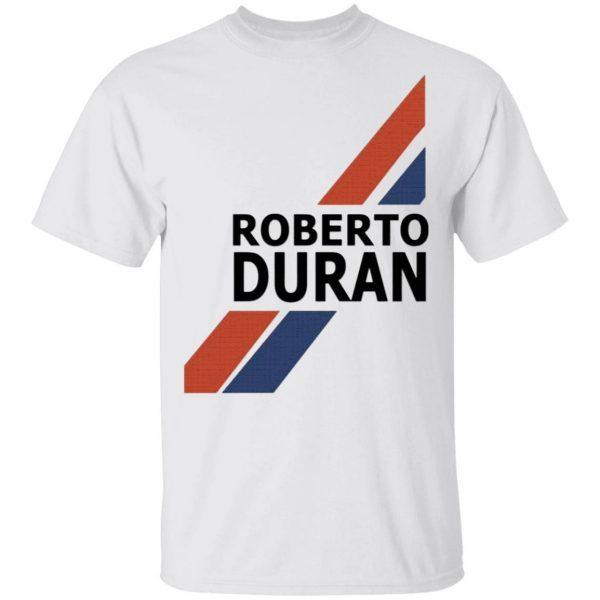 Roberto Duran Retro Shorts White T-Shirt