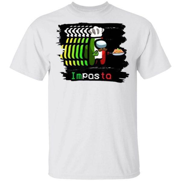 Imposter Impostor Among Game Us Sus Impasta Italian T-Shirt
