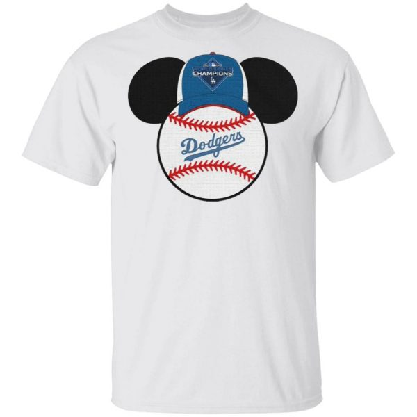 Los Angeles Dodgers Mickey Mouse Champions 2020 MLB T-Shirt