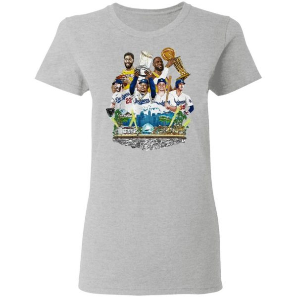 Los Angeles Lakers And Los Angeles Dodgers 2020 Champions 2020 T-Shirt