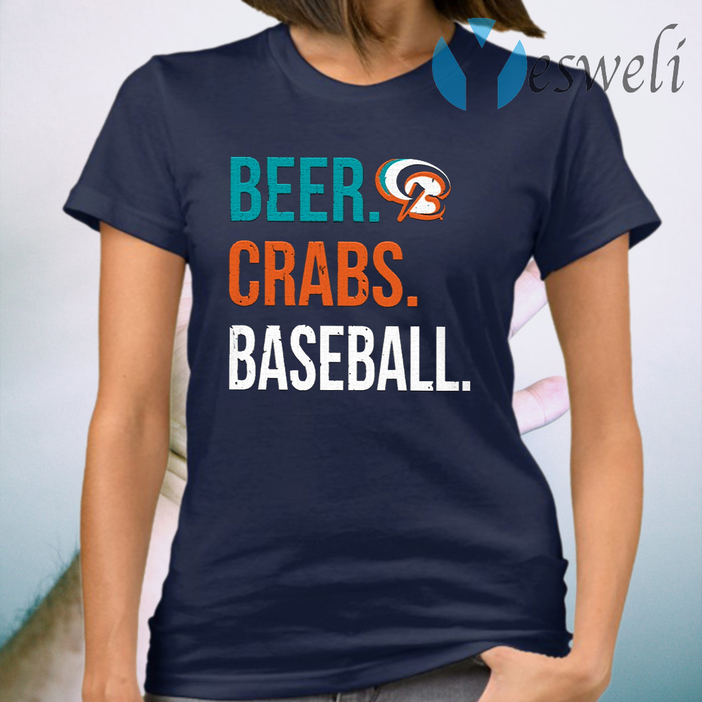 Beer Crabs Baseball T-Shirt