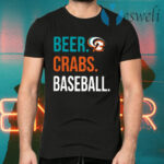 Beer Crabs Baseball T-Shirts