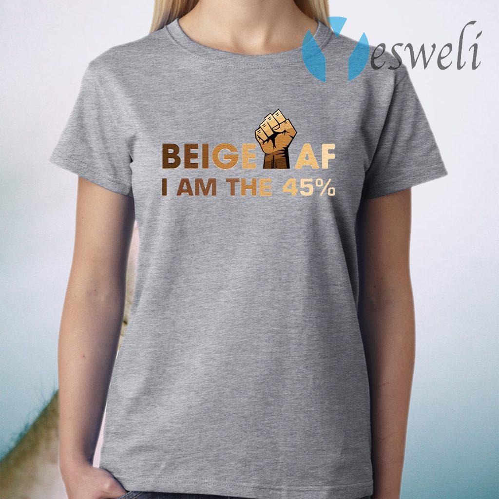 Beige I Am the 45 T-Shirt