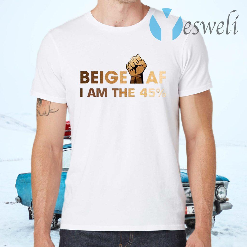 Beige I Am the 45 T-Shirts