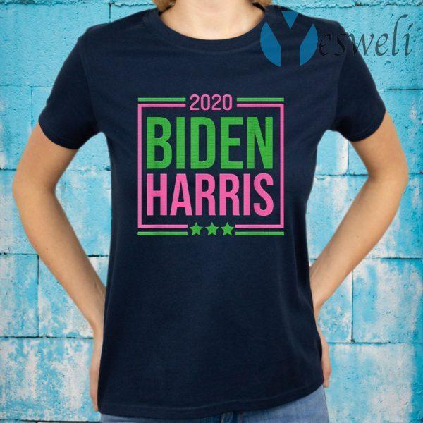 Biden Harris 2020 Pink Green Sorority Gift Elect Vote T-Shirt