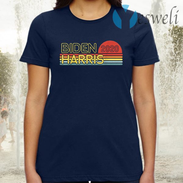 Biden Harris 2020 Retro Rainbow Vintage Design T-Shirt