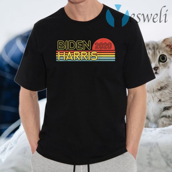 Biden Harris 2020 Retro Rainbow Vintage Design T-Shirts