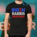 Biden Harris Obviously 2020 Democrat President Election 2020 Biden Supporter T-Shirts