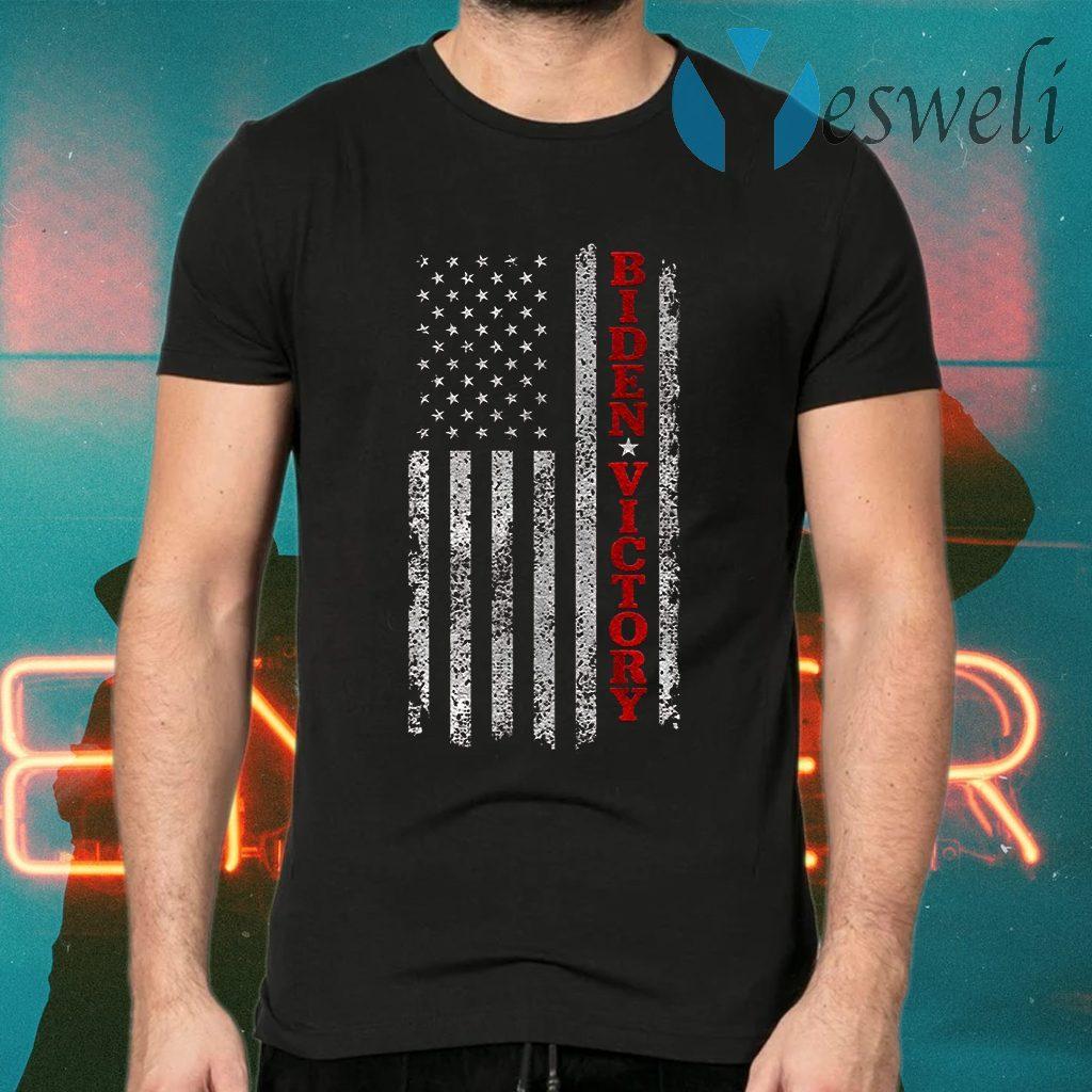 Biden Victory Shirt Vintage American Flag Biden Harris 2020 Premium T-Shirts
