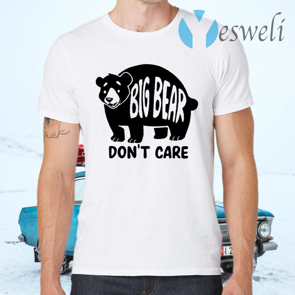 Big Bear Don't Care Grey T-Shirts