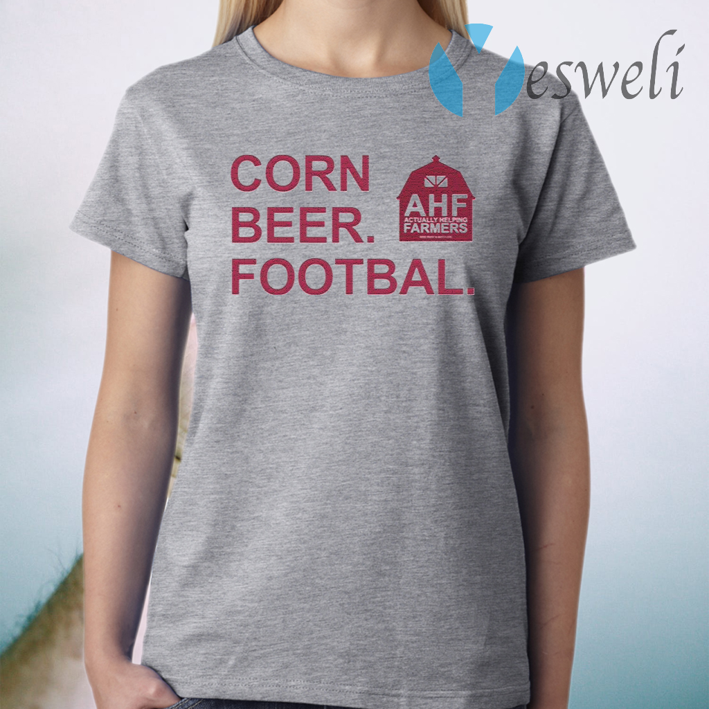 Corn Beer Football T-Shirt