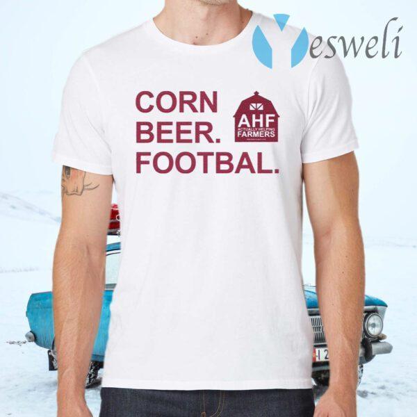 Corn Beer Football T-Shirts