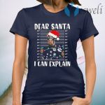 Doberman Dear Santa I can Explain Christmas T-Shirt