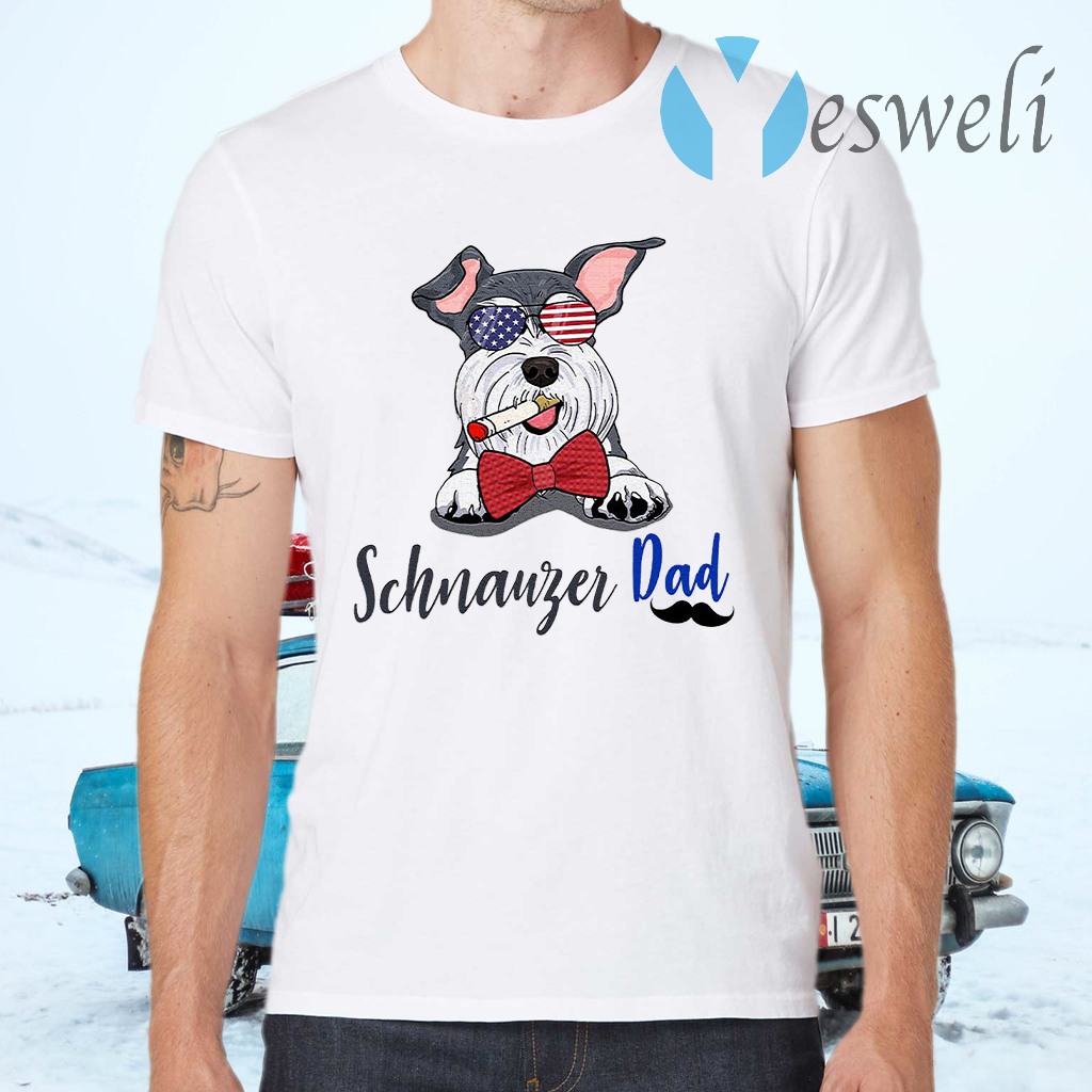 Dog schnauzer dad T-Shirts
