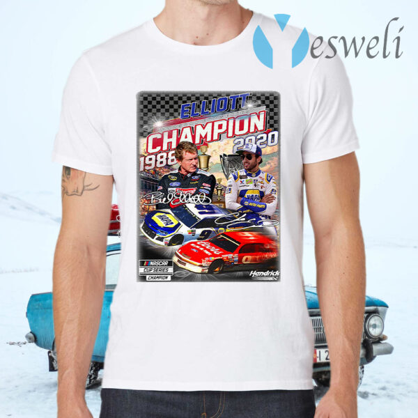 Elliott Nascar Cup Series Champions 1988 2020 Signatures T-Shirts