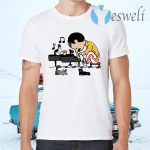 Freddie Peanuts Playing Piano And Cat Youth Kids T-Shirts