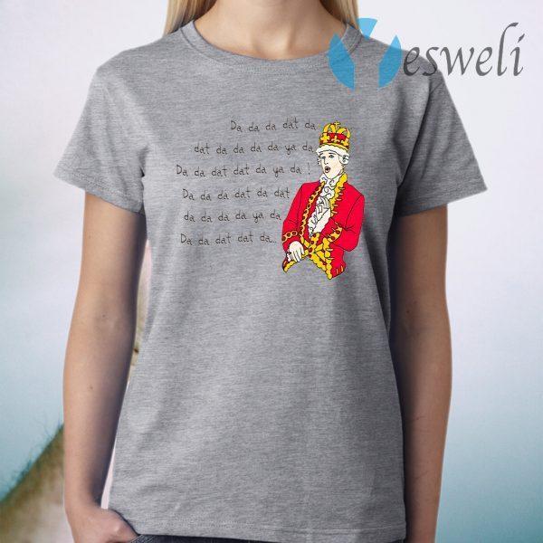 Hamilton King George Chorus Da Da Da Dat Da T-Shirt