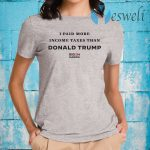 I Paid More In Taxes Than Donald Trump Athletic Heather T-Shirt
