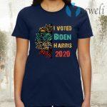 I Voted - Biden Harris 2020 vintage retro Gifts T-Shirt