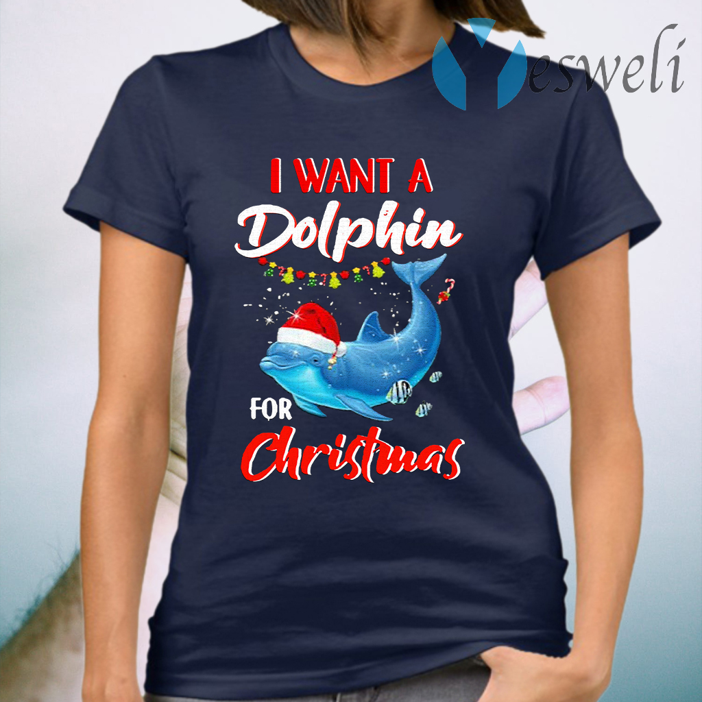 I Want A Dolphin For Christmas T-Shirt