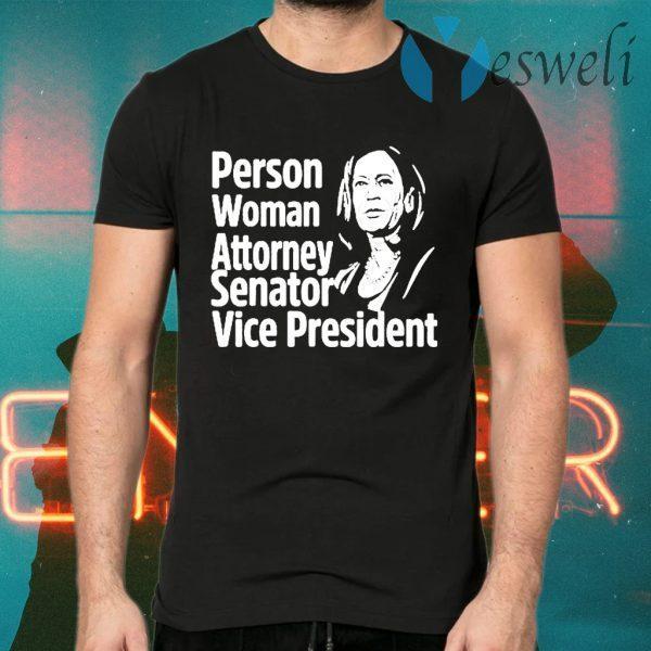 Kamala Harris Person Woman Attorney Senator Vice President T-Shirts