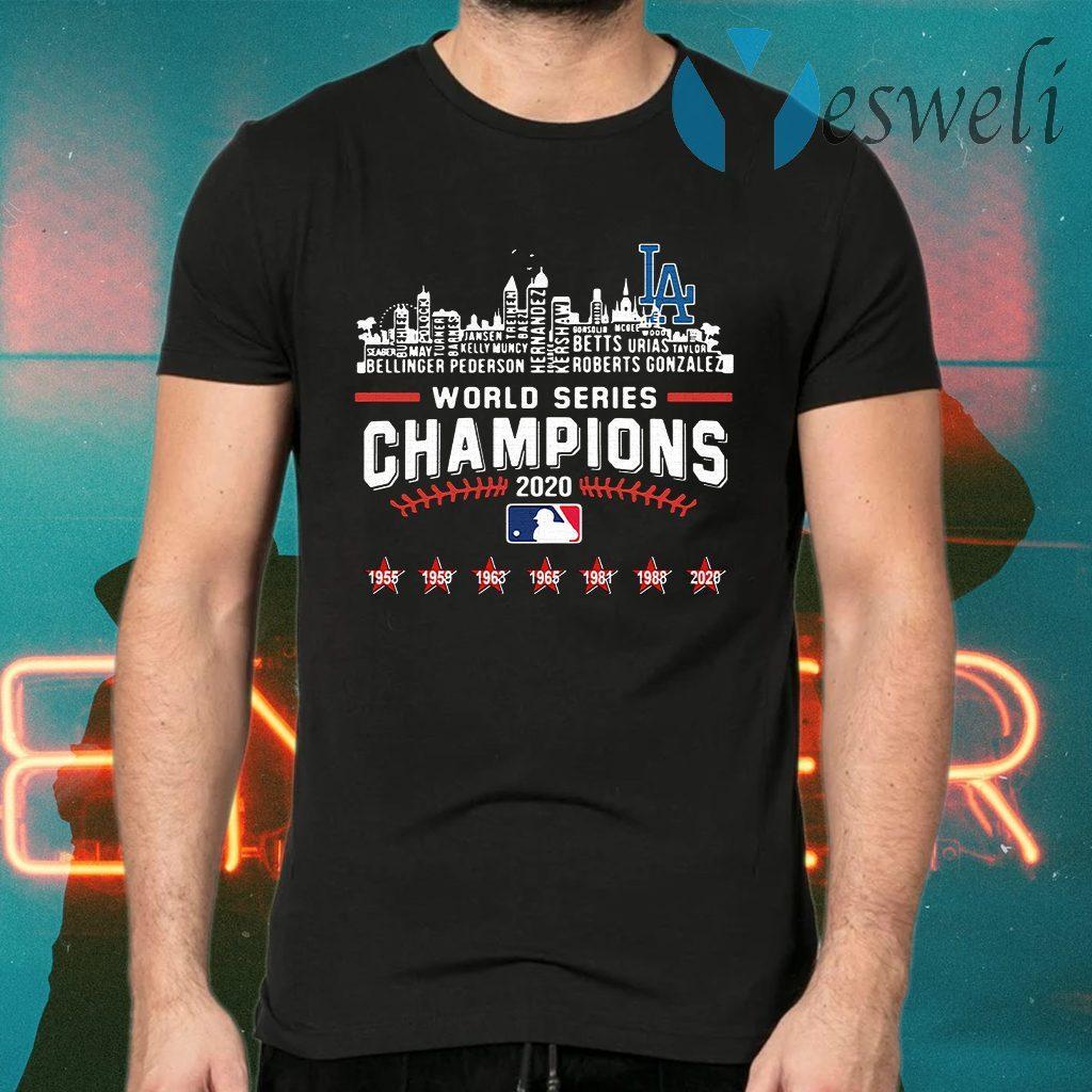 Los Angeles Dodgers World Series Champions 2020 Baseball MLB T-Shirts