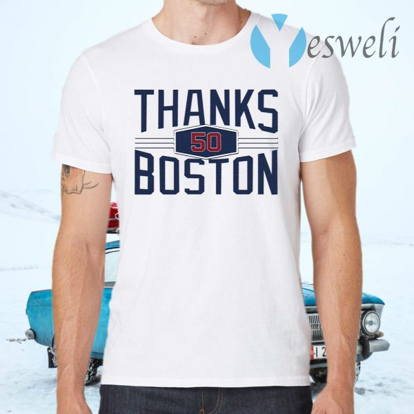 Mookie Betts Thanks 50 Boston T-Shirts