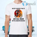Never Underestimate An Old Man With A Moutain Bike Blood Moon T-Shirts
