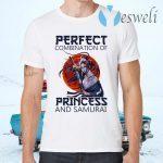 Perfect combination of princess and Samurai T-Shirts