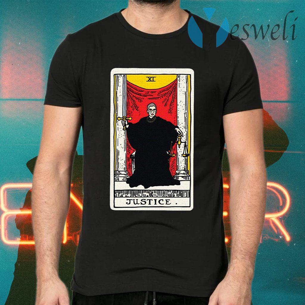 Ruth Bader Ginsburg justice tarot card T-Shirts